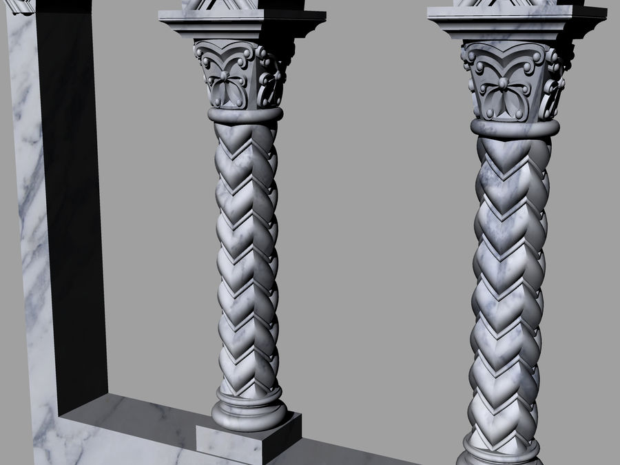 ancient columns and arches royalty-free 3d model - Preview no. 5