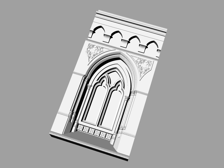 ancient columns ancient columns, arches ancient, ancient window royalty-free 3d model - Preview no. 1