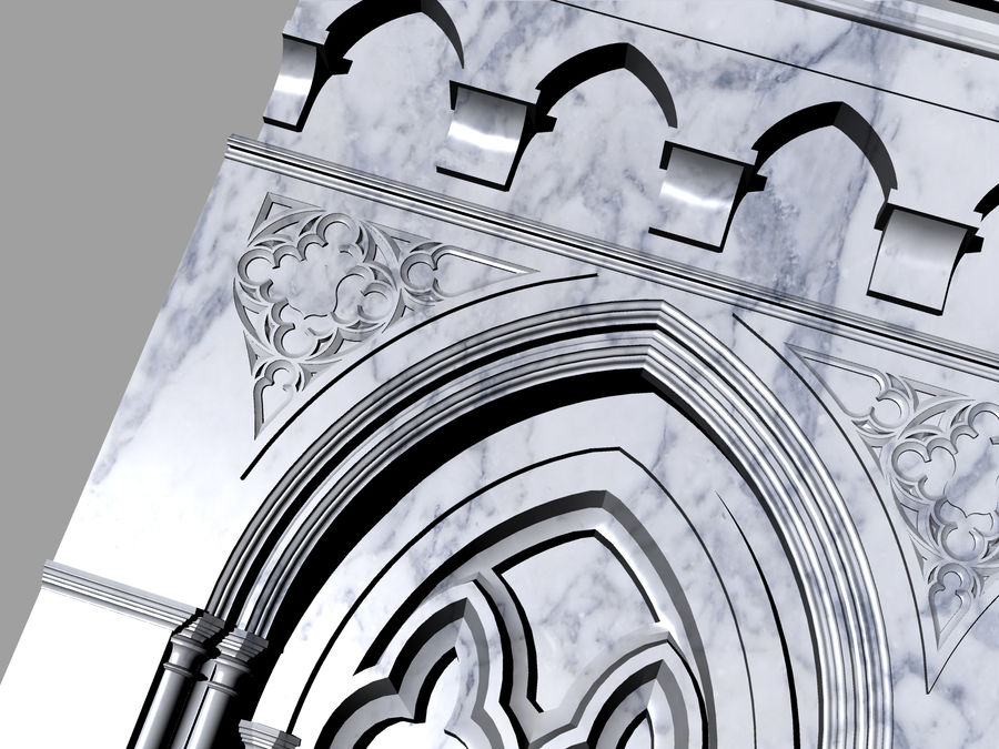 ancient columns ancient columns, arches ancient, ancient window royalty-free 3d model - Preview no. 3