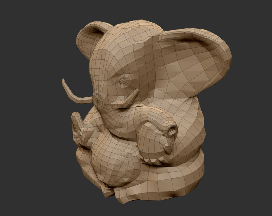 Ganesha royalty-free 3d model - Preview no. 4