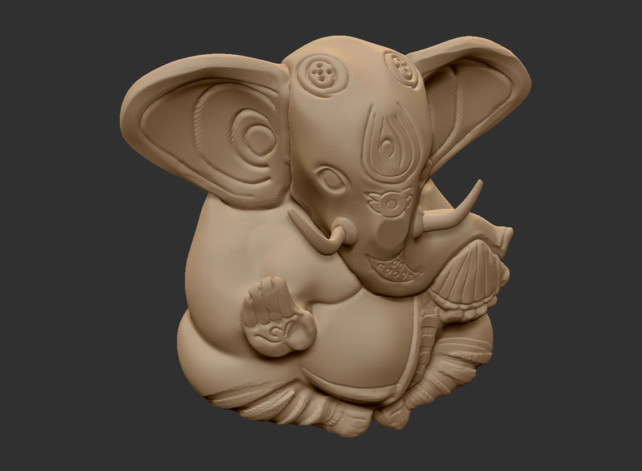 Ganesha royalty-free 3d model - Preview no. 2