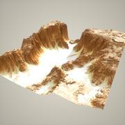 详细的峡谷模型 3d model