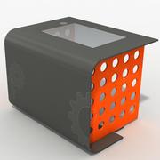 bureau de table de bureau moderne 3d model