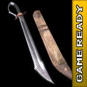 Falchion Sword - SPEL KLAR 3d model