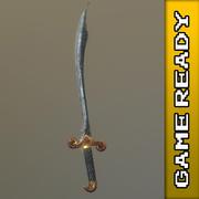 Scimitar Sword - SPEL KLAR 3d model