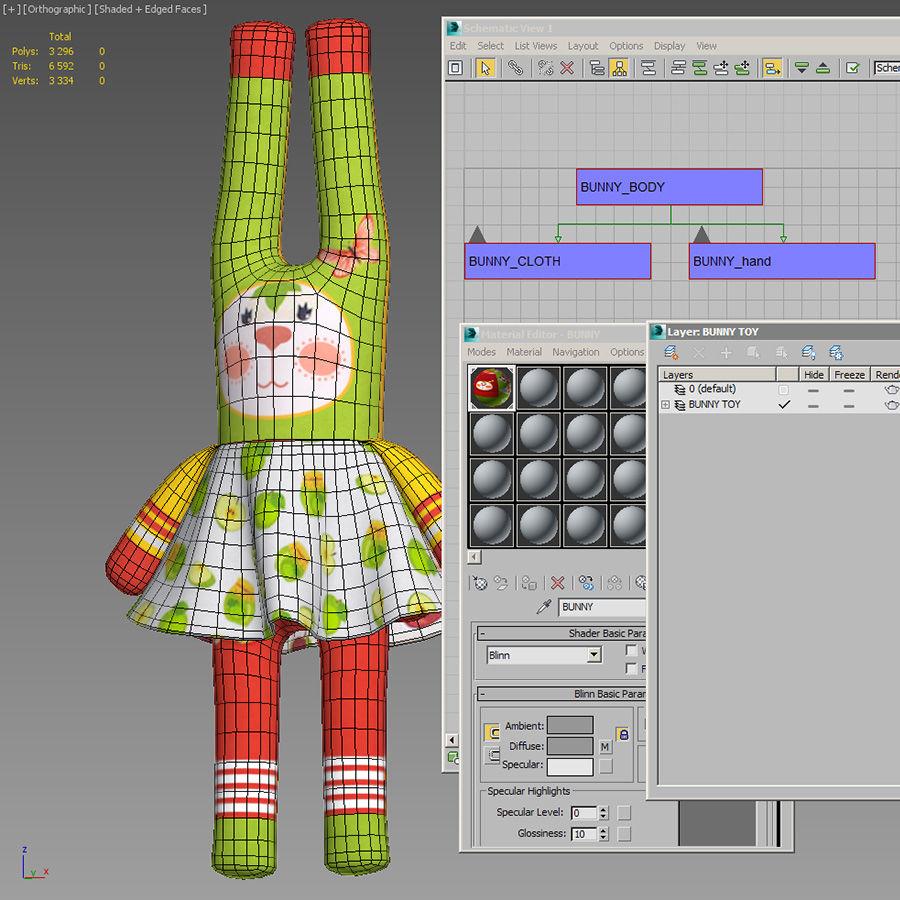 Min kaninleksak royalty-free 3d model - Preview no. 2
