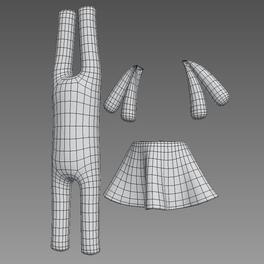 Min kaninleksak royalty-free 3d model - Preview no. 6