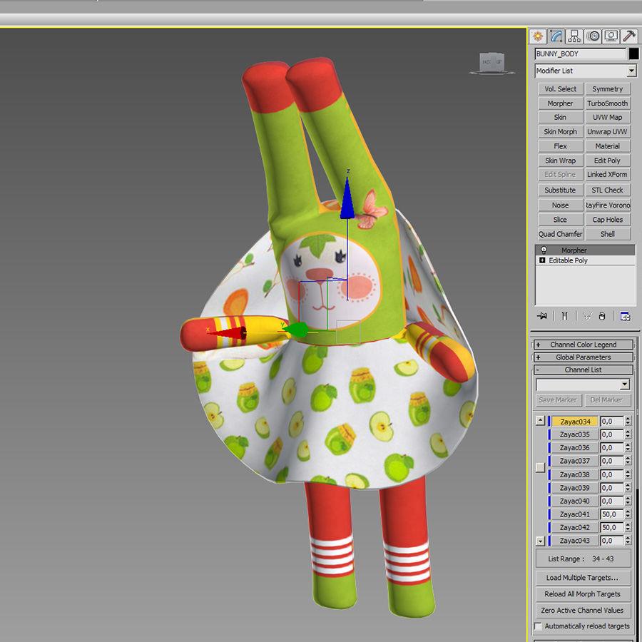 Min kaninleksak royalty-free 3d model - Preview no. 3