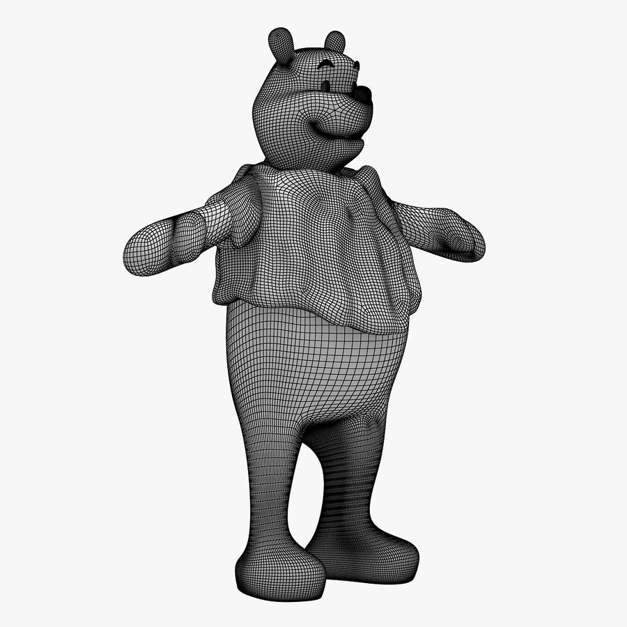 Winnie The Pooh (RIGGED T-POSE) royalty-free 3d model - Preview no. 11