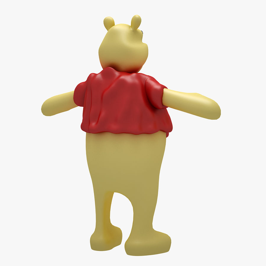 Winnie The Pooh (RIGGED T-POSE) royalty-free 3d model - Preview no. 4