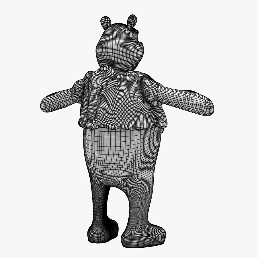 Winnie The Pooh (RIGGED T-POSE) royalty-free 3d model - Preview no. 10