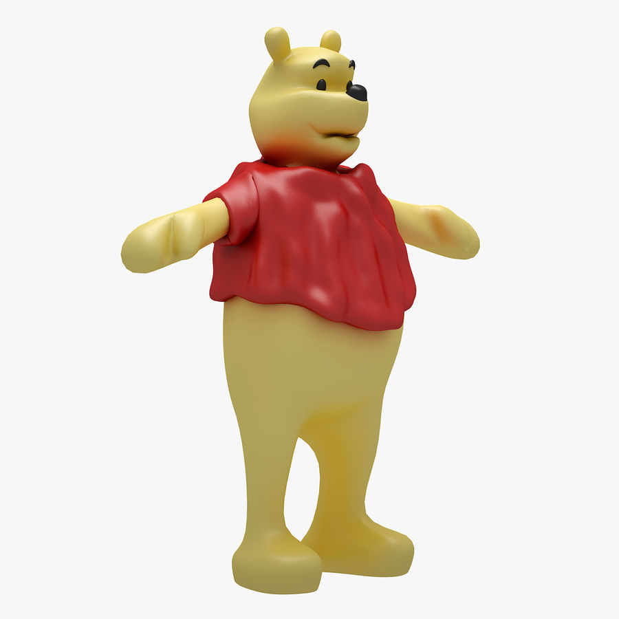 Winnie The Pooh (RIGGED T-POSE) royalty-free 3d model - Preview no. 5