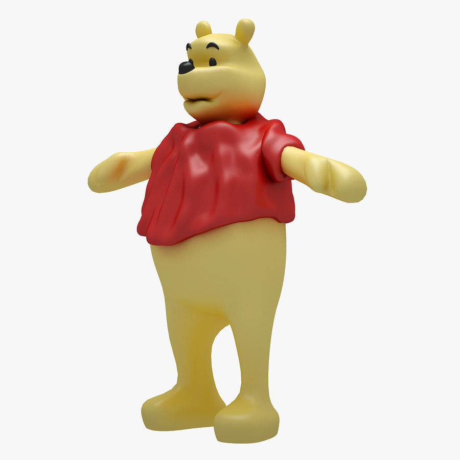 Winnie The Pooh (RIGGED T-POSE) royalty-free 3d model - Preview no. 6