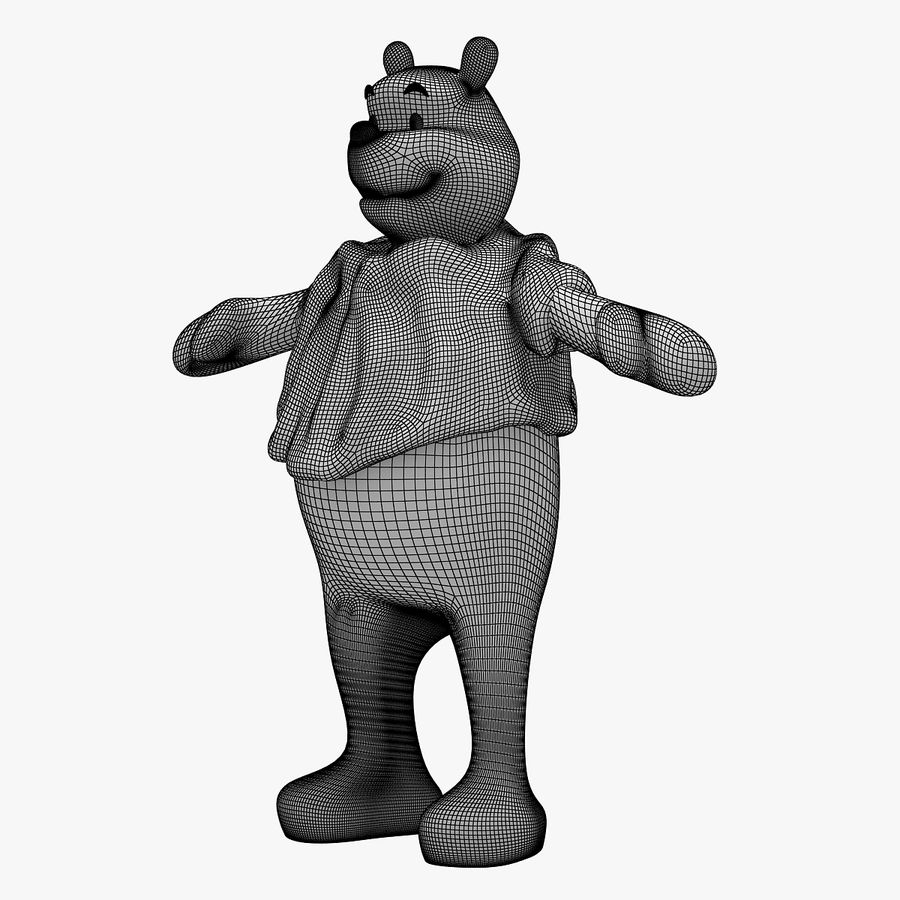 Winnie The Pooh (RIGGED T-POSE) royalty-free 3d model - Preview no. 12