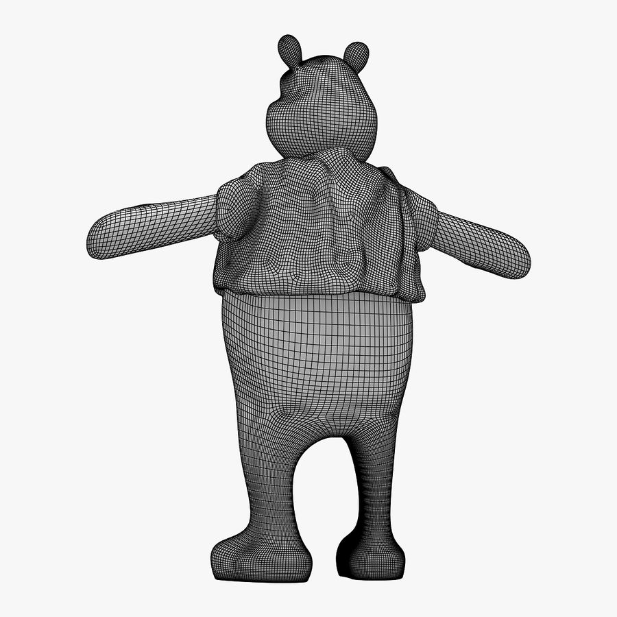 Winnie The Pooh (RIGGED T-POSE) royalty-free 3d model - Preview no. 9