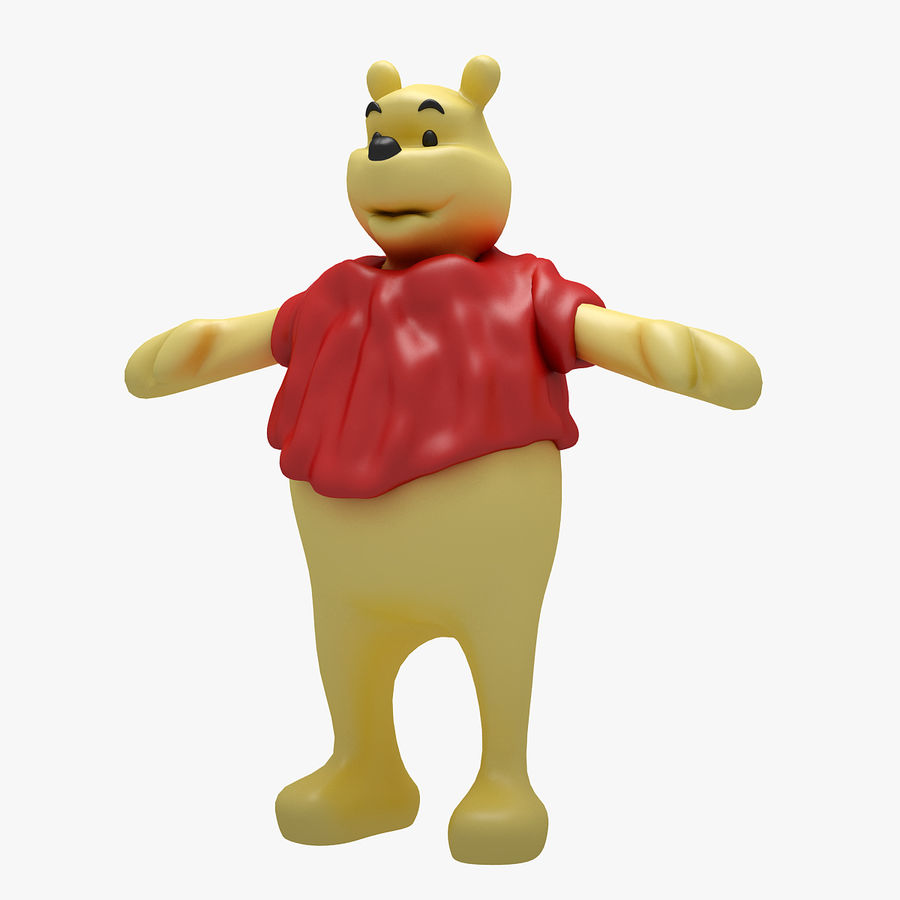 Winnie The Pooh (RIGGED T-POSE) royalty-free 3d model - Preview no. 2