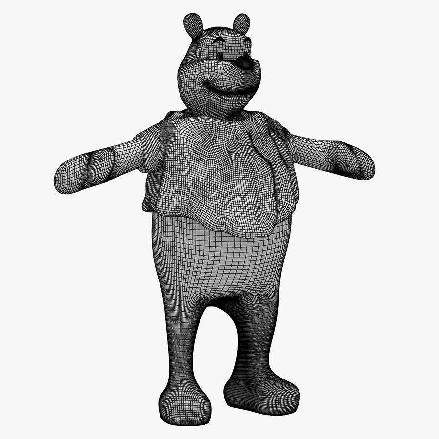 Winnie The Pooh (RIGGED T-POSE) royalty-free 3d model - Preview no. 7