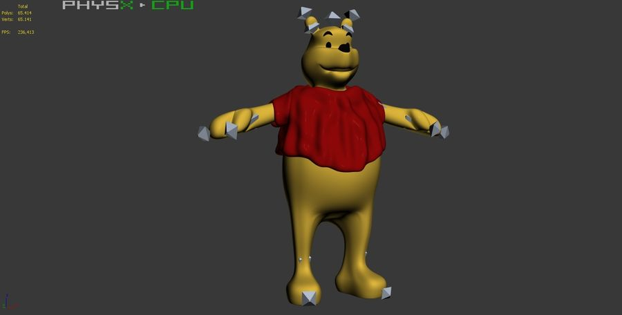 Winnie The Pooh (RIGGED T-POSE) royalty-free 3d model - Preview no. 13