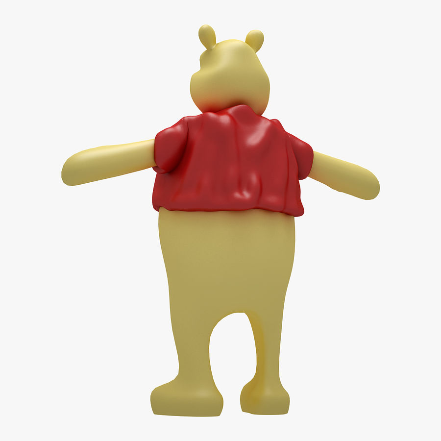 Winnie The Pooh (RIGGED T-POSE) royalty-free 3d model - Preview no. 3