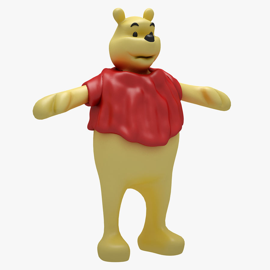 Winnie The Pooh (RIGGED T-POSE) royalty-free 3d model - Preview no. 1