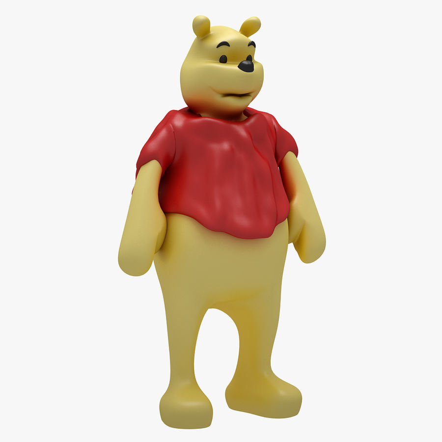 Winnie The Pooh (3 POSE) royalty-free 3d model - Preview no. 2