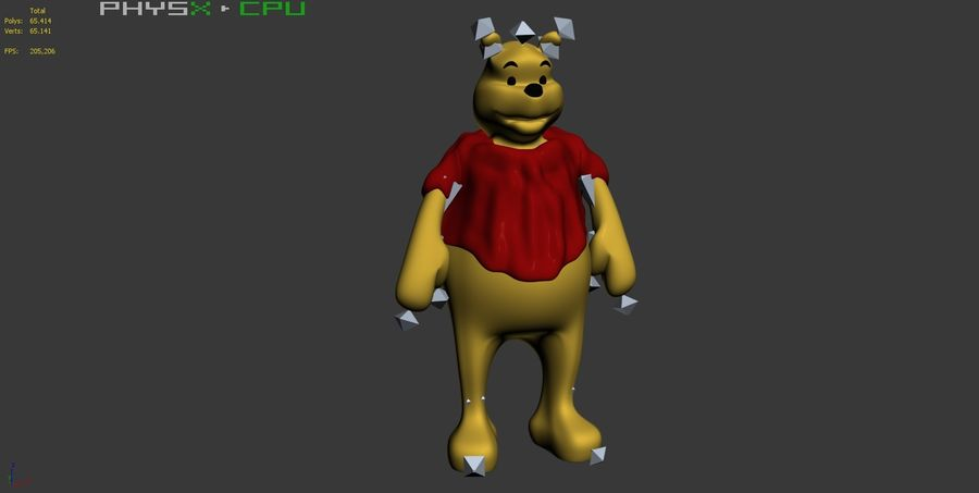 Winnie The Pooh (3 POSE) royalty-free 3d model - Preview no. 6