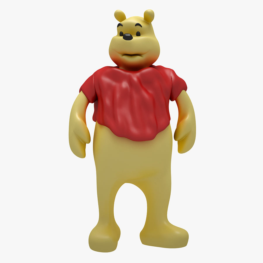 Winnie The Pooh (3 POSE) royalty-free 3d model - Preview no. 12
