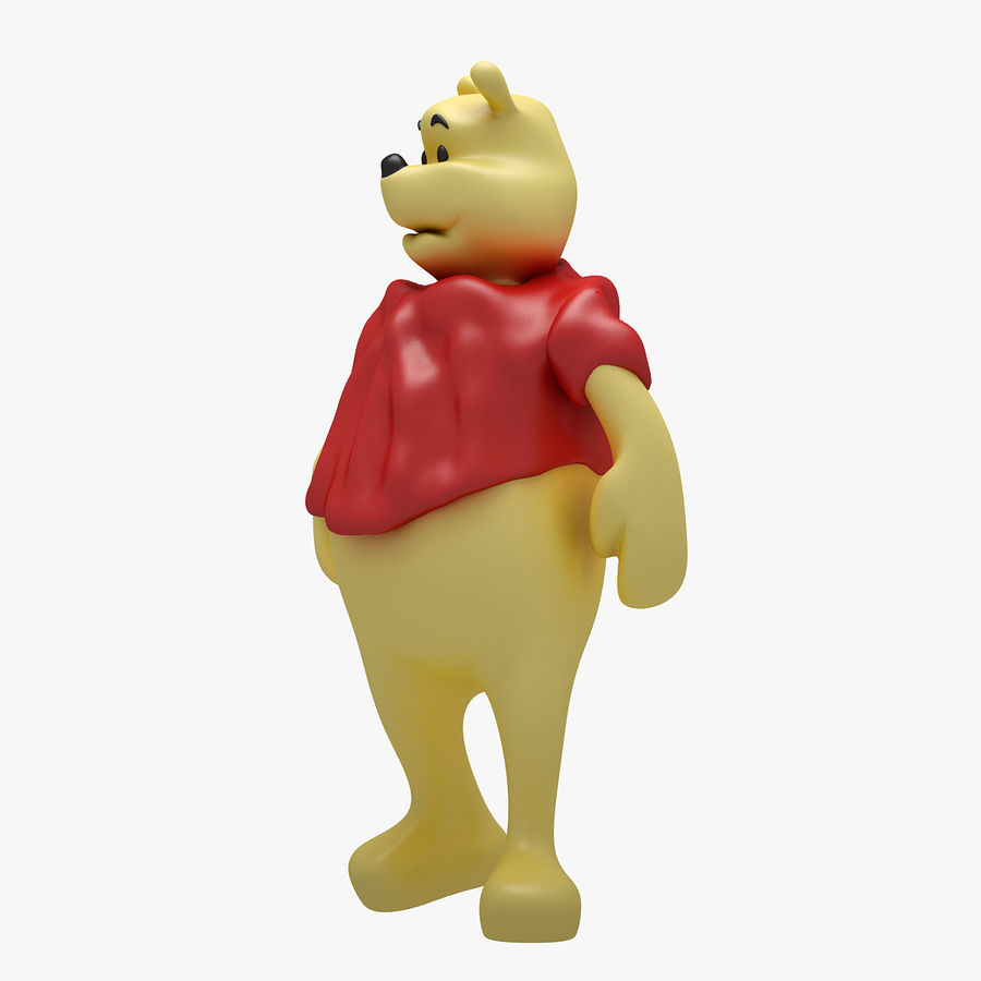 Winnie The Pooh (3 POSE) royalty-free 3d model - Preview no. 13