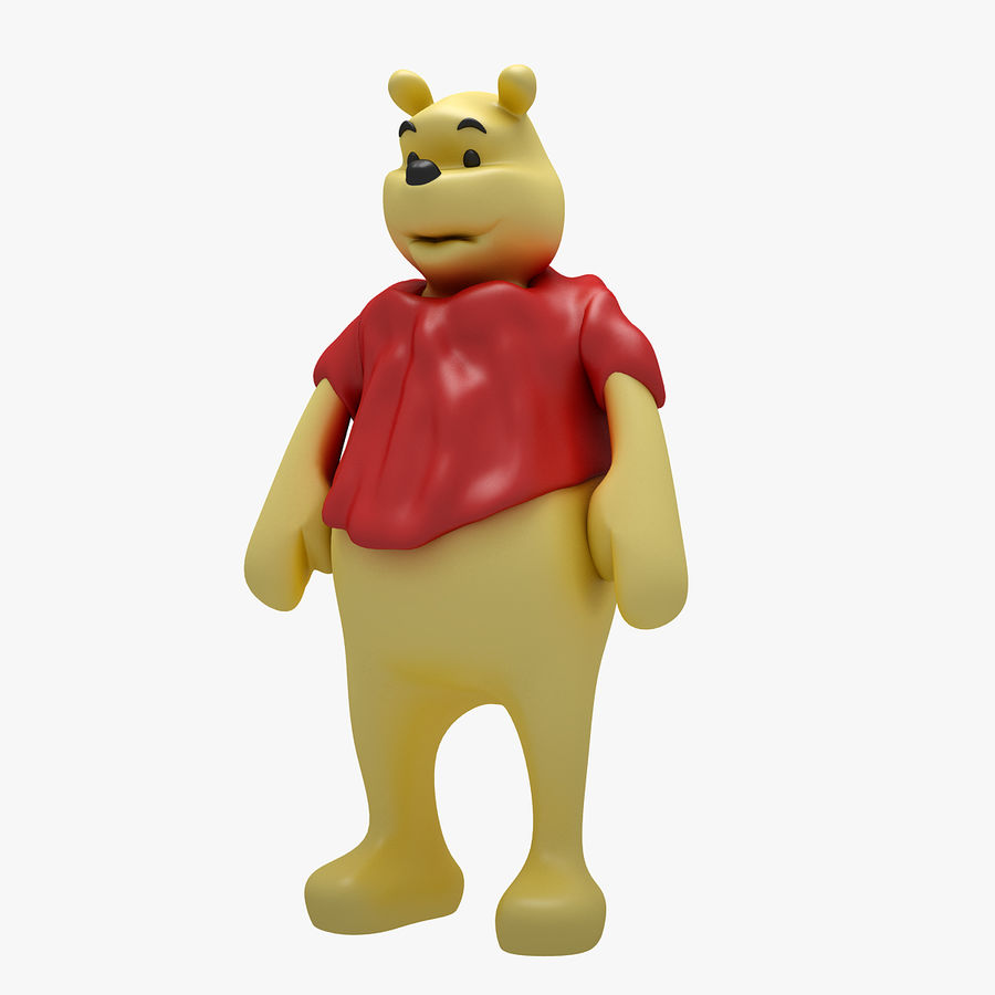 Winnie The Pooh (3 POSE) royalty-free 3d model - Preview no. 3