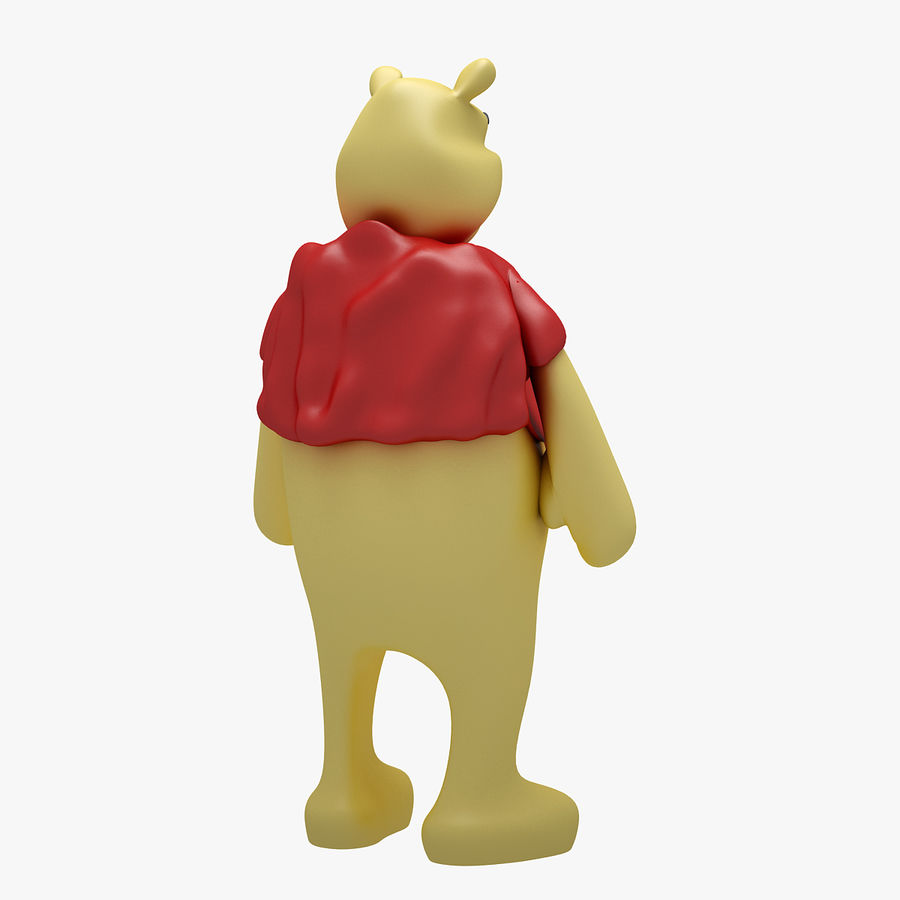 Winnie The Pooh (3 POSE) royalty-free 3d model - Preview no. 5