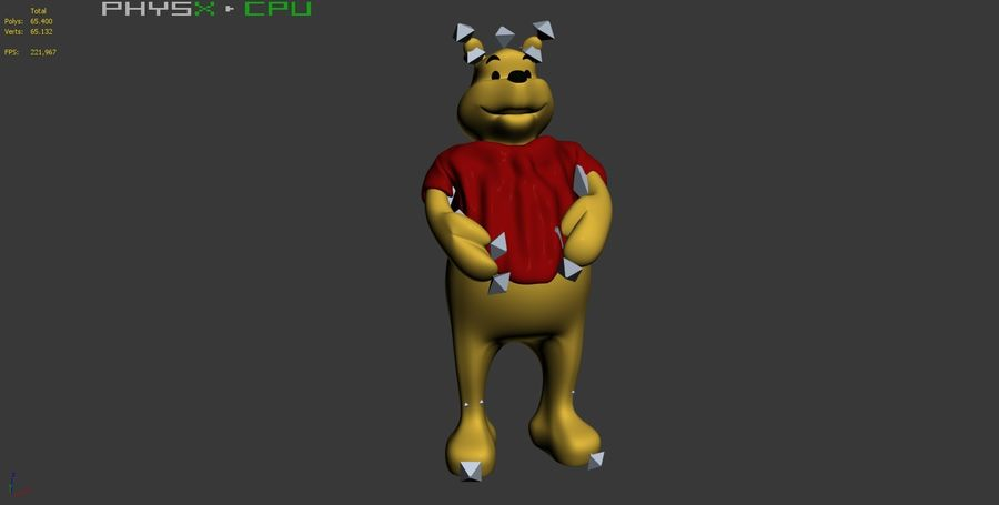 Winnie The Pooh (3 POSE) royalty-free 3d model - Preview no. 11