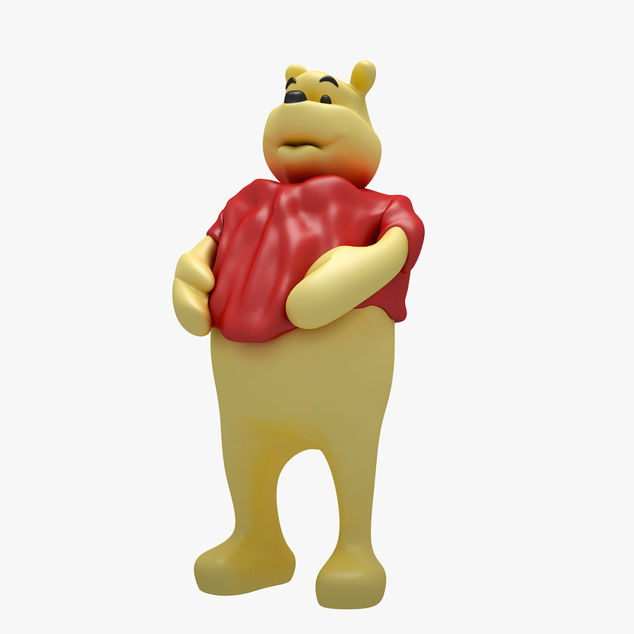 Winnie The Pooh (3 POSE) royalty-free 3d model - Preview no. 8