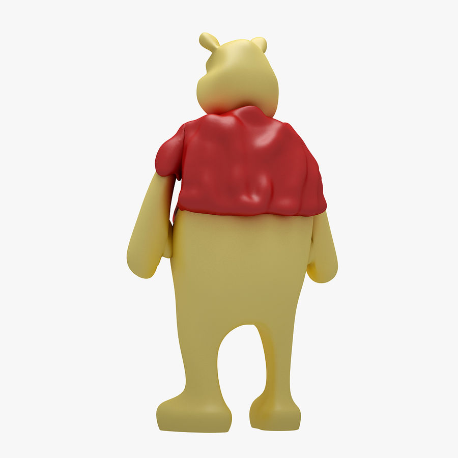 Winnie The Pooh (3 POSE) royalty-free 3d model - Preview no. 4