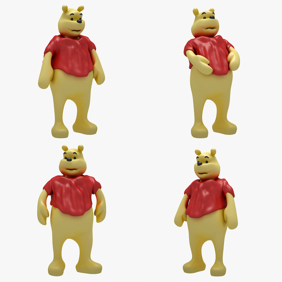 Winnie The Pooh (3 POSE) royalty-free 3d model - Preview no. 1