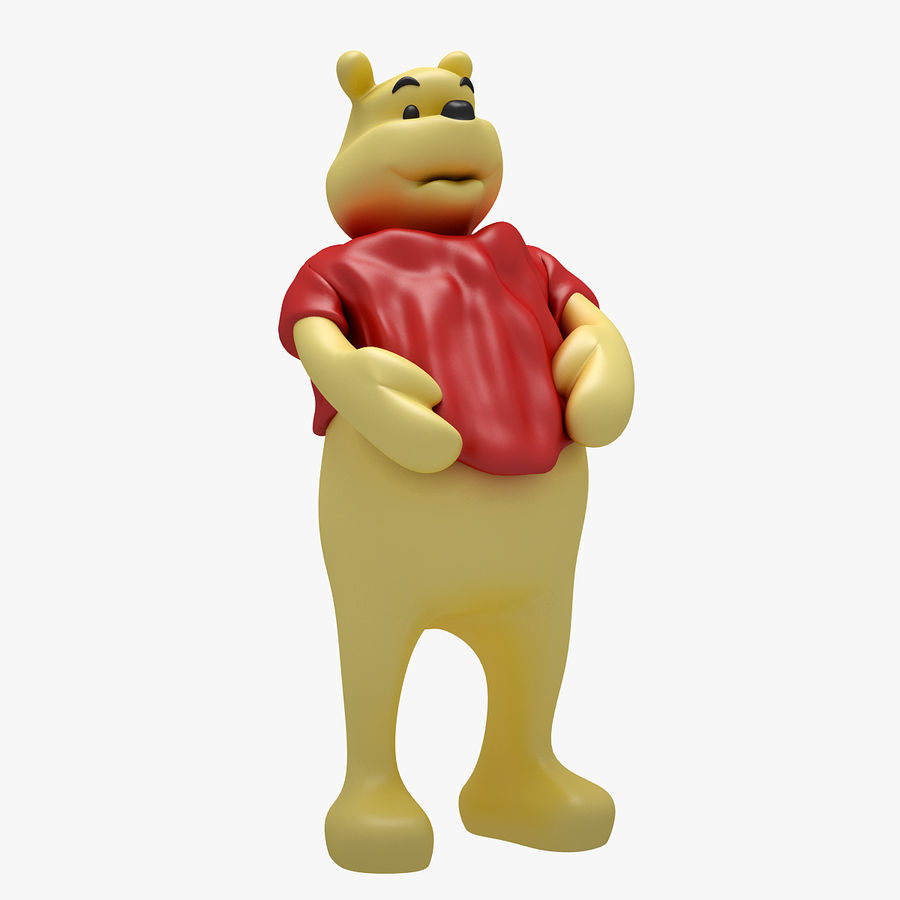 Winnie The Pooh (3 POSE) royalty-free 3d model - Preview no. 7