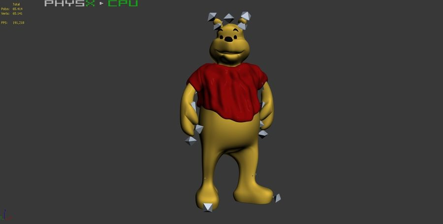 Winnie The Pooh (3 POSE) royalty-free 3d model - Preview no. 16