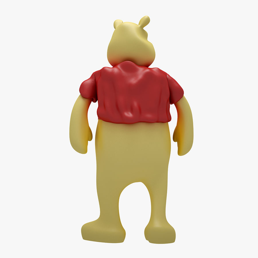 Winnie The Pooh (3 POSE) royalty-free 3d model - Preview no. 14