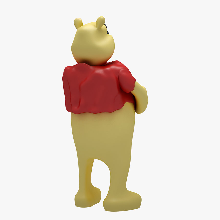 Winnie The Pooh (3 POSE) royalty-free 3d model - Preview no. 10
