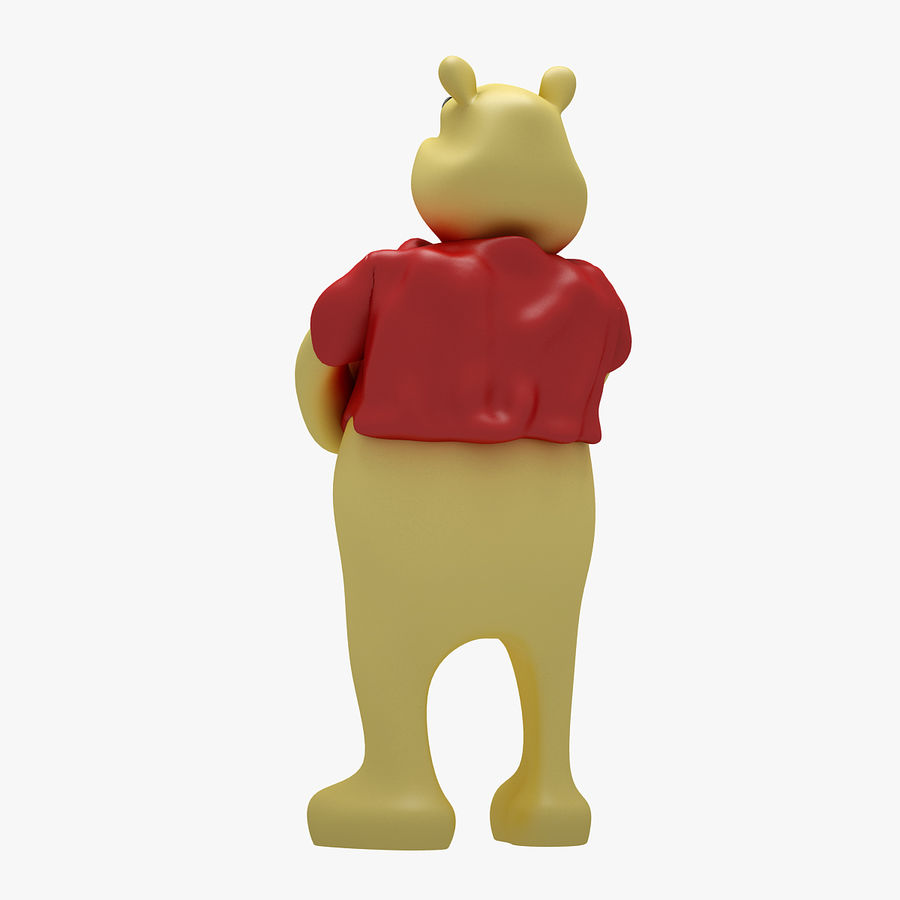Winnie The Pooh (3 POSE) royalty-free 3d model - Preview no. 9
