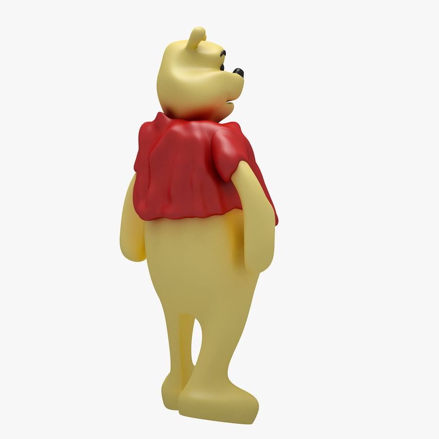 Winnie The Pooh (3 POSE) royalty-free 3d model - Preview no. 15