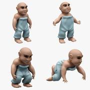 Ребенок 001 (4 позы) 3d model