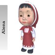 Alena Girl 3d model
