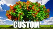 Plantas e plantas de árvores 3d model