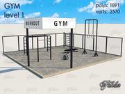 健身房1级 3d model