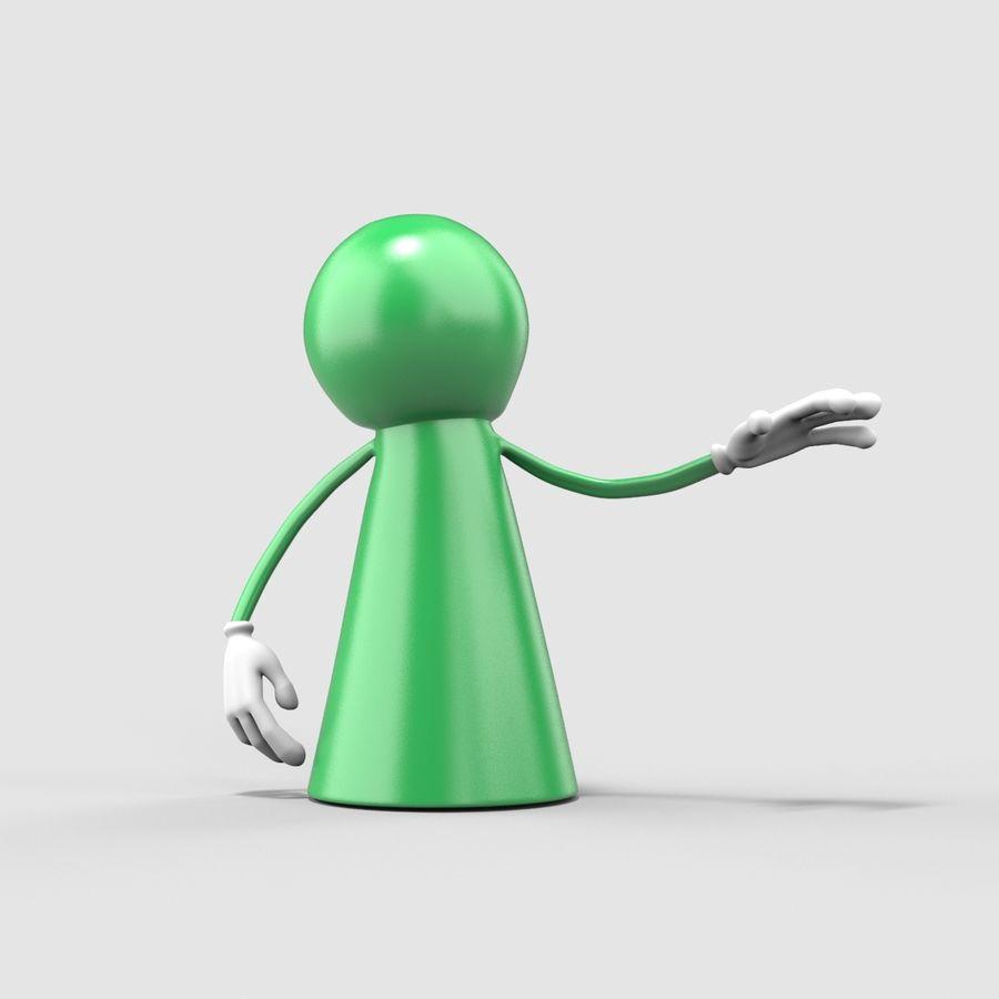 Figure de jeu de bureau royalty-free 3d model - Preview no. 2