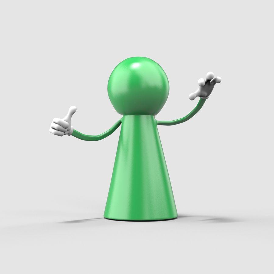 Figure de jeu de bureau royalty-free 3d model - Preview no. 3
