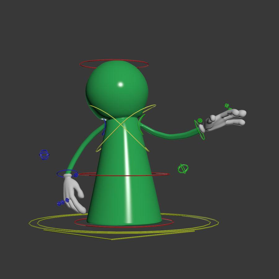 Figure de jeu de bureau royalty-free 3d model - Preview no. 6
