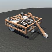 Leonardo Cart 3d model