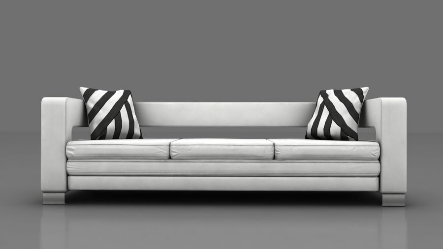 modern couch sofa royalty-free 3d model - Preview no. 7
