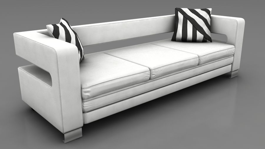 modern couch sofa royalty-free 3d model - Preview no. 1